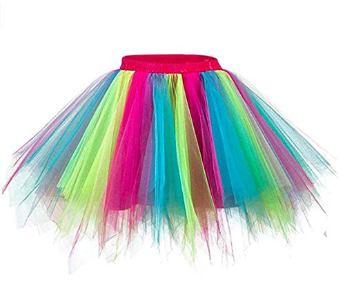 Ruiuzi Faldas de tutú para Mujeres Faldas Enaguas Cortas Tul Plisada Fiesta Tutu Ballet