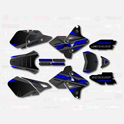 Gray Blue Shift Graphics Kit fits Suzuki DRZ400SM Drz400s drz400 Supermoto DRZ