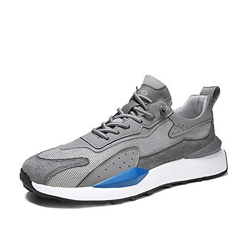 WYZDQ Entrenadores para Hombre Zapatos Deportivos Al Aire Libre Ligeros Atlético Gimnasio Fitness Caminando Carrera Jogging Caminar Casual Sneakers,B,US7 / UK6