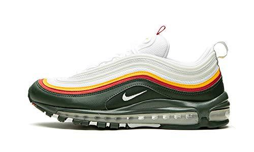 Nike Air MAX 97 Lea, Zapatillas de Atletismo Hombre, Multicolor (White/Dynamic Yellow/Evergreen 000), 38.5 EU