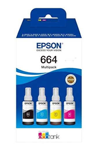 Epson 664 CMJN BOTTIGLIA EcoTank 4-colour Multipack, Inchiostri originali dye a 4 colori
