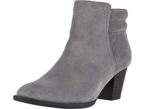 Vionic Women's Upright Jessie Ankle Boot - Ladies Boots with Concealed Orthotic Support Charcoal 10 M US