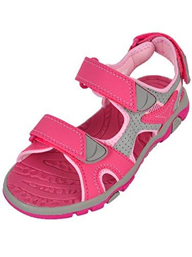 Khombu Girls' River Sandal Pink/Grey Size 3