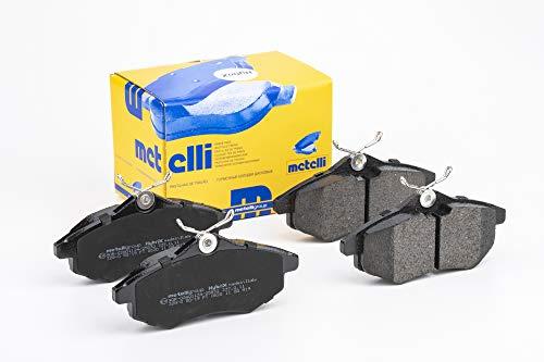 metelligroup 22-0328-0 Pastiglie Freno anteriori, Made in Italy, Pezzo di Ricambio per Auto/Automobile, Kit da 4 Pezzi, Certificate ECE R90, Prive di Rame
