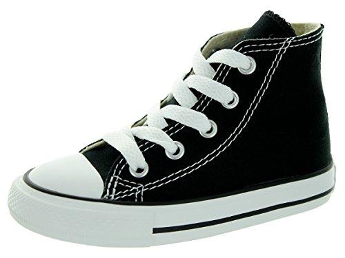 Converse Chuck Taylor All Star Core Hi Zapatillas de tela, Unisex - Infantil, Negro (Noir), 20
