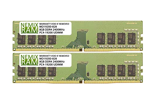 NEMIX RAM 16GB Kit (2 x 8GB) DDR4-2400 UDIMM 2Rx8 for ASUS Motherboards