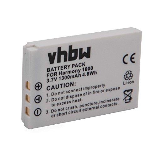 vhbw Li-Ion Akku 1300mAh (3.7V) passend für Fernbedienung Remote Control Logitech C-LR65, C-RL65, Internet Radio, Squeezebox Duet Controler