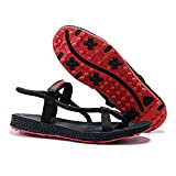 XSJK Women's Sandals,Sport Sandals for Women,Women's Spikeless Golf Sandal,Anti-skidding Outdoor Water Sandals Comfortable Athletic Sandals for Beach,Red,37