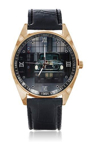 Choeter Old Mustang - Reloj de pulsera personalizable para hombre y mujer,...