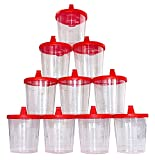 Medi-Inn Recipiente para Orina 125ML con Roja Cubierta de Snap-On Recipiente Muestra Orina Vasos de Plástico 10 Stück
