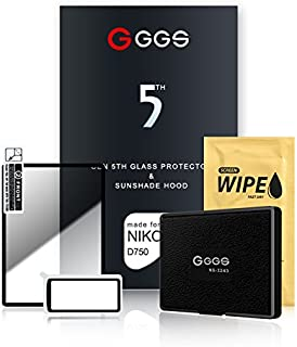 GGS 5th Glass Screen Protector and Sunshade Hood for Nikon D750