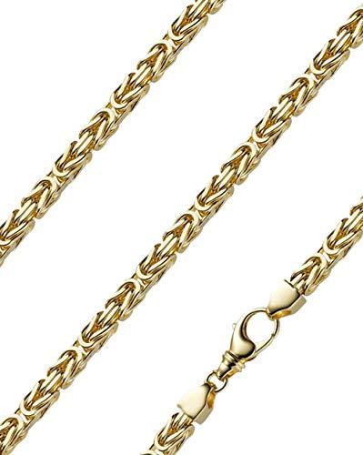 Königskette massiv 14 Karat 585 Gelbgold 60cm lang und 6,0mm breit
