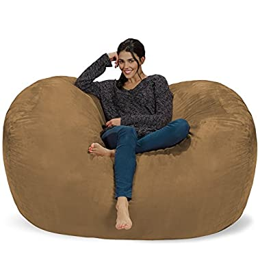 Chill Sack Bean Bag Chair: Huge 6' Memory Foam Furniture Bag and Large Lounger - Big Sofa with Soft Micro Fiber Cover - Earth