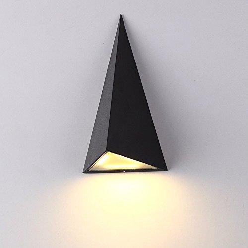 Moderne wandlamp, wandlamp, LED, tuinlamp, waterdicht, wandlamp, balkon, driehoek