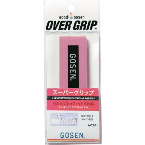 ゴーセン GOSEN GOSEN ゴーセン スーパーグリップ AC26L 25 ピンク