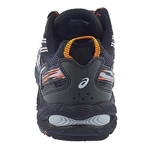 ASICS Men's Gel Venture 5 Trail Running Shoe, (12 D(M) US, Black/Shocking Orange/Duffel Bag)