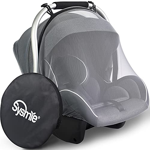 Stroller Mosquito Net for Car Seats 2021 Newest – Baby Mosquito Net Mesh Stroller Net with Zipper Opening Design- Universal Fit and Quick Install, Premium Quality: Tear Resistant & Durable - Gray