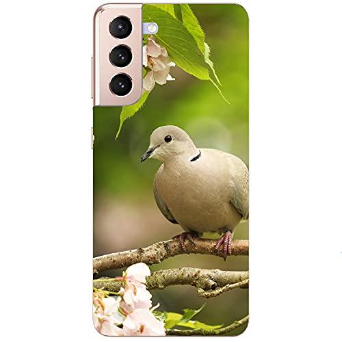 Generisch Funda blanda para teléfono móvil, diseño de paloma, pájaro y flores, para Apple Xiaomi Huawei Honor Nokia One Plus Oppo ZTE Google, tamaño: ZTE Axon 7