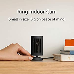 Introducing Ring Indoor Cam | Compact Plug-In HD security camera with Two-Way Talk, black, Works with Alexa