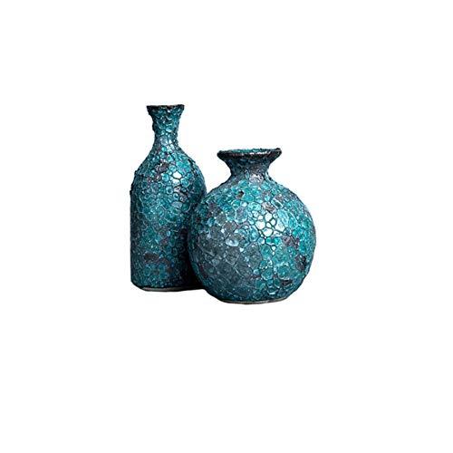 Maya Star Mini jarrones de cerámica de estilo japonés de 2 piezas, diseño creativo de flores, decoración minimalista para el hogar A43