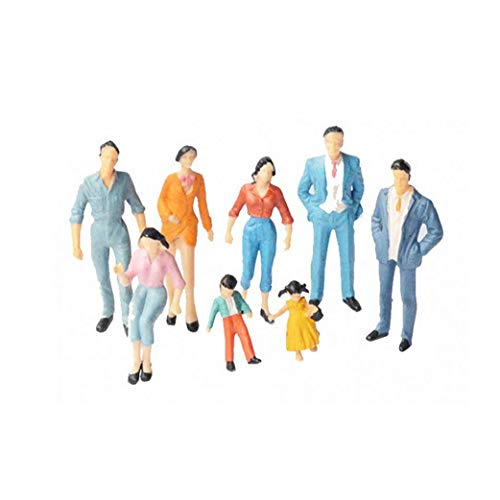 asdfwe 24x Painted Modellbahn Menschen Figuren Maßstab Ho (1 Bis 87)