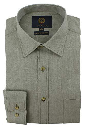 Viyella Hemd, einfarbig, 80/20 Baumwollmischgewebe Gr. Kragenweite: 45, Grün Melange
