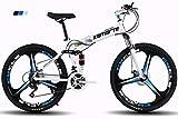 KTM Bicicleta de montaña Bicicleta Plegable Rueda de 24-26 Pulgadas, Tres Opciones de Cambio (21-24-27), neumático Especial...