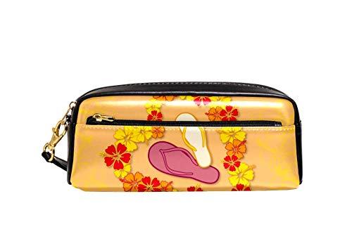 Bolsa de gran capacidad para escritorio, lapicero, marcador, organizador de papelería, cosméticos, con cremallera para la escuela y la oficina, 21 x 5 x 8,3 cm, diseño de corazón de Aloha Love, color color1 talla única