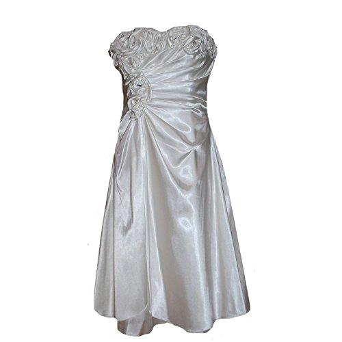 JuJu & Christine - Abendkleid Festkleid Mädchen Hochzeitskleid, weiß, Größe 36