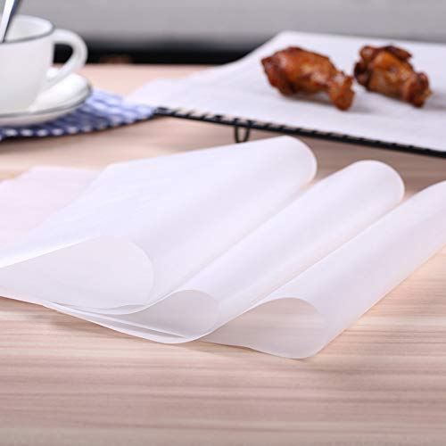 CHANGLE 500 Pcs Parchment Paper Sheets, 9.8 x 13.8 Inch Baking Sheet, Pre-cut Non-stick Silicone Oil Paper, for Baking, Packaging, Freezing, Cooking and Grilling.