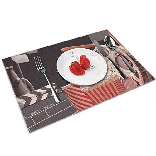 Strawberryran Cine Objetos de la Industria cinematográfica Hollywood Cinematografía Concepto de fotografía 12 X 18 en Conjunto de 4