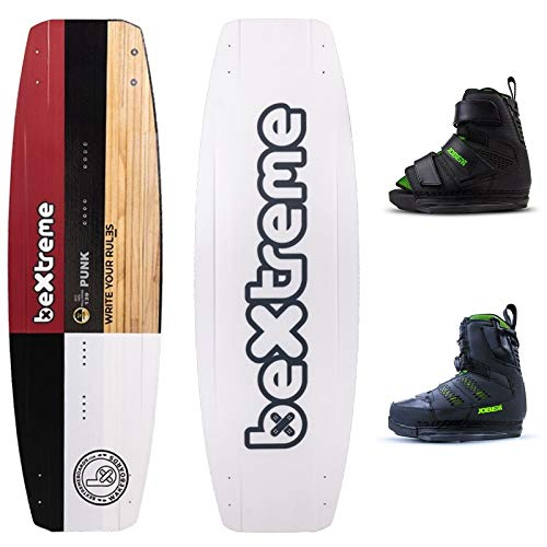 Bextreme Wakeboard Punk 139cm + wakeboard Jobe. Kabelplank, wakepark en boot met kegelgaten geschikt voor Kiteboard Wake Board voor heren Eco