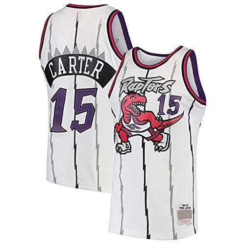 KKSY Jerseys de Hombre Vince Carter # 15 Toronto Raptors Camisetas de Baloncesto Chaleco Transpirable Retro,A,S