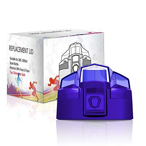 KollyKolla Coperchio per Bottiglia d'Acqua, Tappo per Bottiglia di plastica, BPA-Free, Adatto per Borraccia da 380/500ml, Blu Scuro