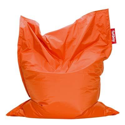 Fatboy® Original orange Nylon-Sitzsack| Klassischer Indoor Beanbag, Sitzkissen | 180 x 140 cm
