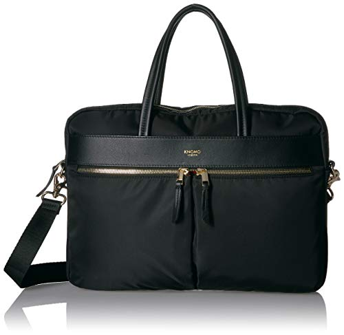 Knomo Mayfair Briefcase, 36 cm, 1.6 liters,Black