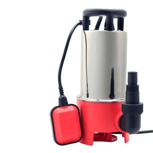Grafner Schmutzwasserpumpe 1100 Watt bis 20000 l/h Förderleistung, Ø35mm Fremdkörper, Schwimmschalter, Tragegriff, Universalanschlüsse, Schmutzwasser Tauchpumpe