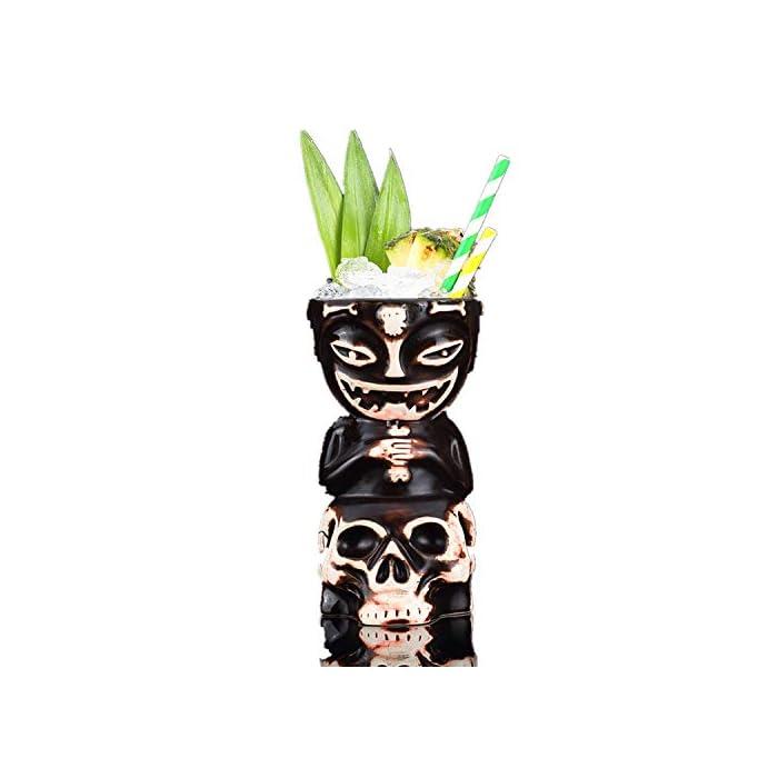 Cocktail Hawaiian Tiki Mug Ceramic Wine Beer Cup Cocktail Glass Creative Bar Partyfunny Coffee Mug For Homeofficegift 22 Zombie Skull Baby