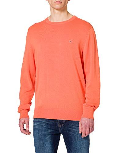 Tommy Hilfiger Organic Cotton Blend Crew Neck Maglione, Tramonto Estivo, XL Uomo