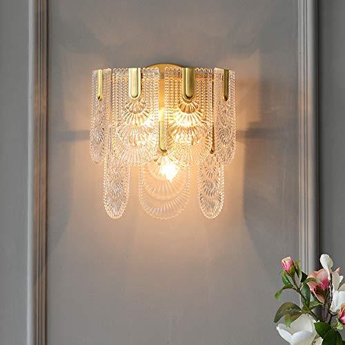 RGF Estilo Americano de Oro Post Modern Cobre lámpara de Pared Simple Dormitorio Estudio de cabecera del Arte de la lámpara de la Sala de Cristal lámpara de Pared de 33 * 38 (cm)