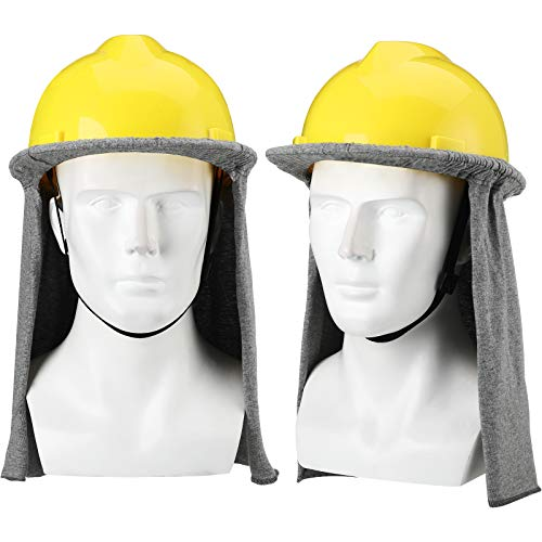 2 Pieces FR Hard Hat Flame Resistant Hard Hat Liner Neck Shade Sun Cover Shield (Hard Hat Not Included)
