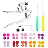 Kit de cierres de arranque, botones a presión y alicates de presión, T3 de resina a presión, accesorios de costura para costura y manualidades
