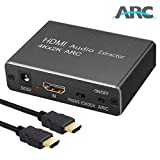 LiNKFOR HDMI Audio Extractor Support ARC 4Kx2K@30Hz 3D HDMI ARC Adapter HDMI to Optical Toslink SPDIF Coaxial...