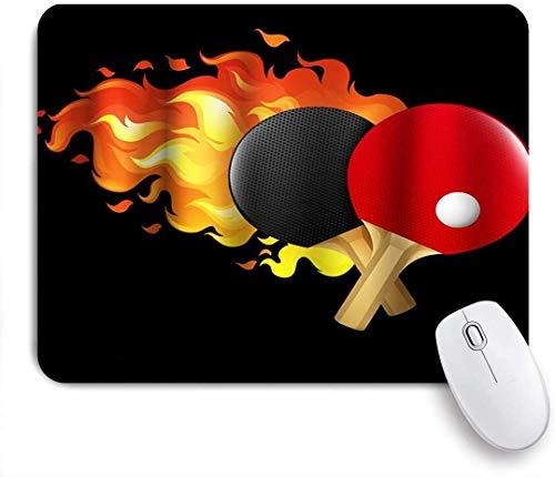 Gaming Mouse Pad Rutschfeste Gummibasis, Tischtennis Sportliebhaber Thema, für Computer Laptop Schreibtisch