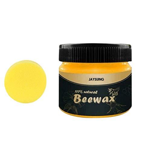 Möbelwachs farblos zur Möbelpflege & Holzschutz für innen und aussen, Möbelpflege Bienenwachs, Natürliche Holzpflege Bienenwachs Möbelwachs (100ml mit Schwamm)