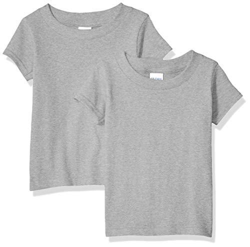 Gildan Kids Toddler T-Shirt, 2-Pack, Sport Grey, 4T