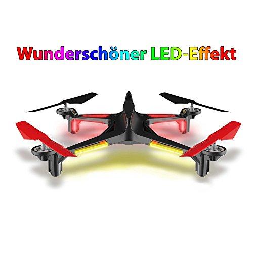 HSP Himoto 4.5 Kanal RC Ferngesteuerter Quadcopter, Drohne Modell im Racing-Design, 6-axis Gyro, Rückholmodus, Headless, Komplett-Set inkl. Akku und Ladegerät, Ersatzteil-Set