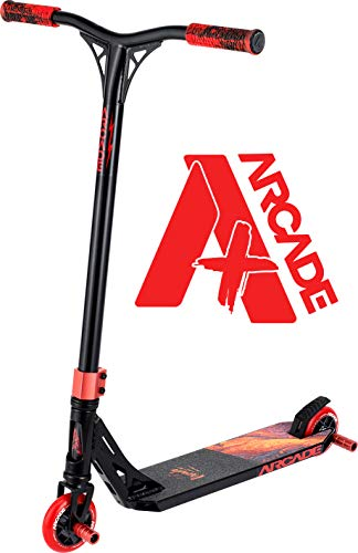 Arcade Pro Scooters Plus Stunt Scooter for Kids 10 Years and Up - Perfect for Intermediate Boys and Girls - Best Trick Scooter for BMX Freestyle Tricks (ARCADE Plus - Molten Lava)