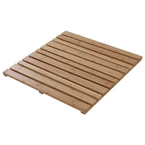 Pedana Doccia Antiscivolo in bambù - Quadrata 50 x 50 cm - Colore Miele