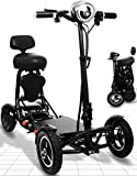Ephesus S5 —New 2020 Model— Electric Mobility Scooter |Foldable, Lightweight, Battery Power| (Black)
